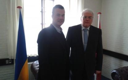 Ukraines ambassadør i Danmark bringer mit forslag om FN-styrke videre til Ukraines regering