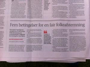 Lave K. Broch kræver sammen med flere andre politikere en fair folkeafstemning om retsforbeholdet.